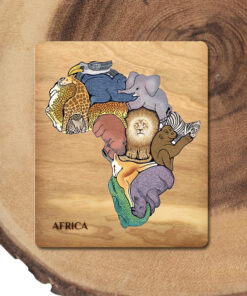 African Animal Educational Puzzle